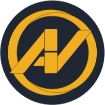Aleks Vladimirov brand logo, The A in the logo represents Aleksandars' first name and the V - Vladimirov, his last name. They are represented as AV symbol combined together and surrounded by a circle representing the infinity.